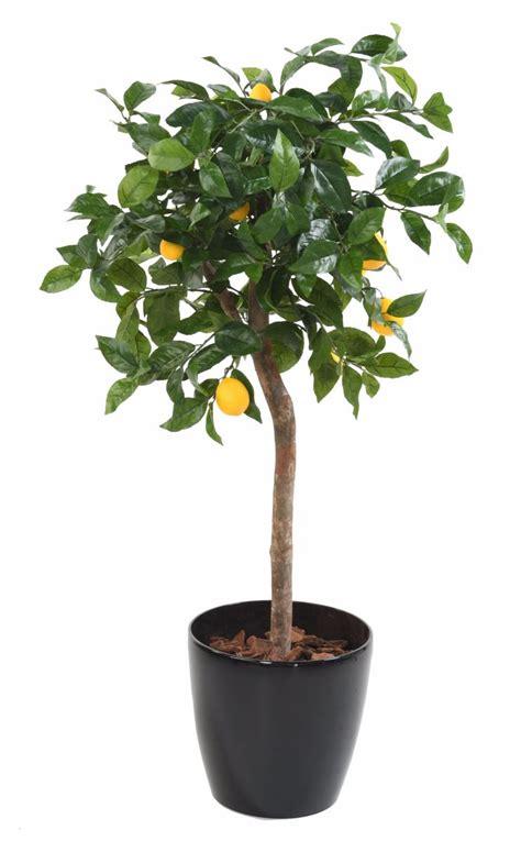 arbre artificiel fruitier citronnier t 234 te en pot int 233 rieur h 110 cm vert jaune