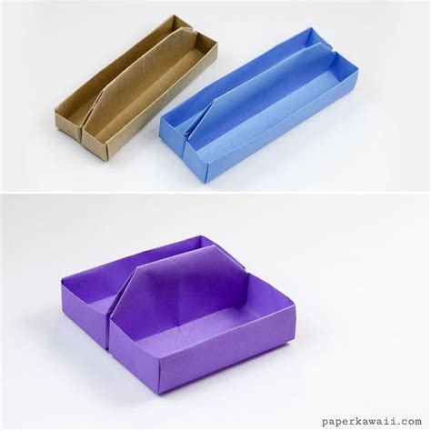 origami pill box square origami tray table caddy tutorial trays