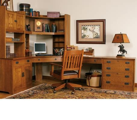 mission style home office furniture mission office arts and crafts style