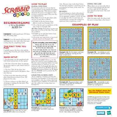 scrabble rule book pdf hasbro scrabble jr beginners user guide