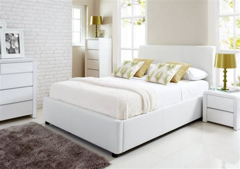 beds white henley white leather ottoman storage bed