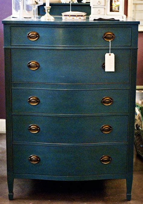 chalk paint navy blue beautiful vintage dresser painted with chalk paint