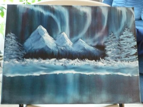 bob ross northern lights painting for sale jes thoughtfulplace day 5