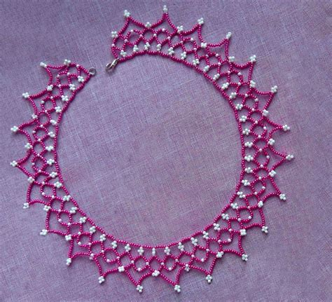 beading patterns for beadsmagic free pattern for pretty beaded necklace junona