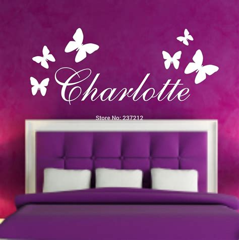 name stickers for wall aliexpress buy personalised butterfly name wall