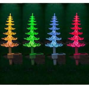 tree solar lights solar powered colour changing tree lights