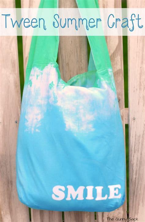 craft projects for tweens tie dye tote tween summer craft idea