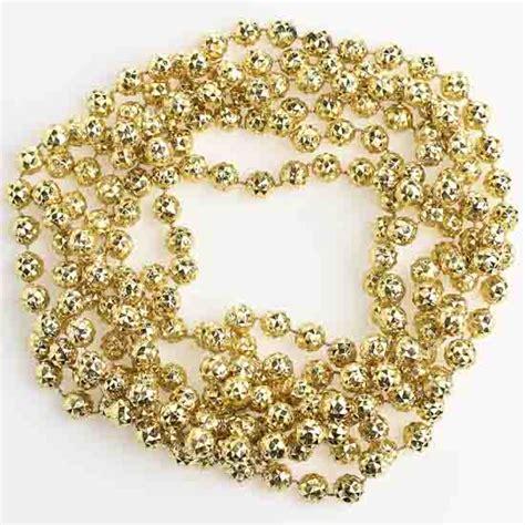 gold bead garland 10mm metallic gold faceted bead garland 9