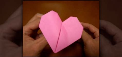 how to make a origami beating how to origami a pink beating 171 origami wonderhowto