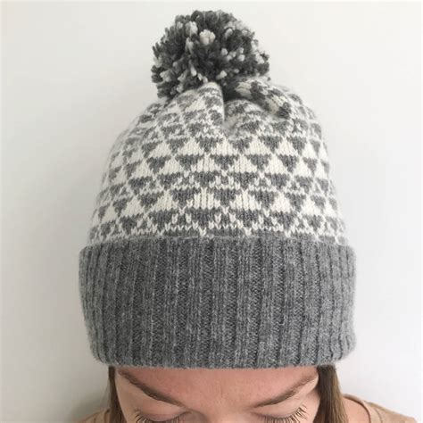 bobble hat pattern knitting bobble hat knitted lambswool by