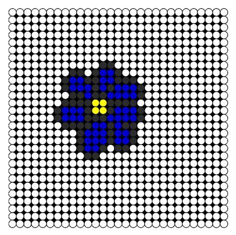 perler bead flower patterns midnight flower