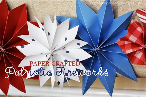 4th of july paper crafts home things