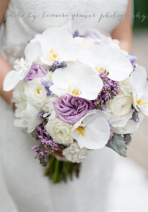 peonies and orchids lavender and white orchid peony garden bouquet