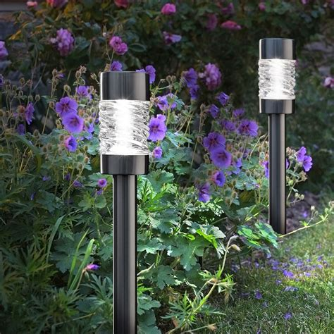 solar garden lights solar garden lights martello pack of 4