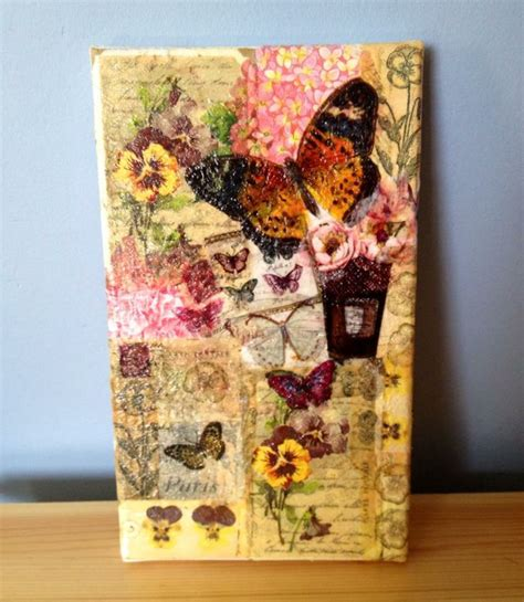 decoupage wall ideas 17 best ideas about decoupage canvas on