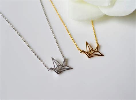 origami crane necklace crane necklace origami crane necklace paper crane on luulla