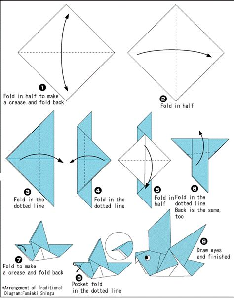 origami out of paper origami dove printable international