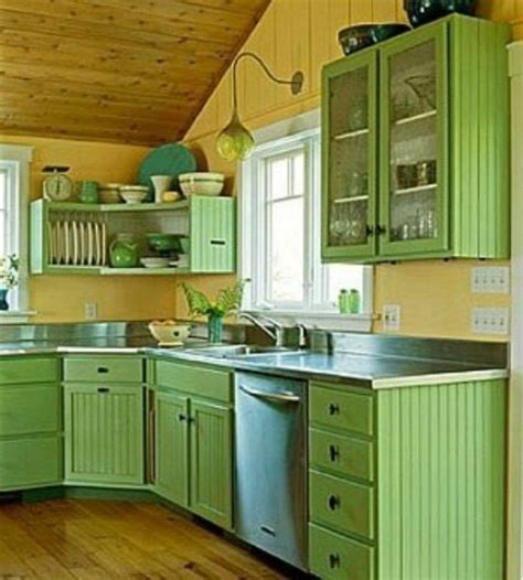 green kitchen cabinet ideas cheerful summer interiors 50 green and yellow kitchen designs digsdigs