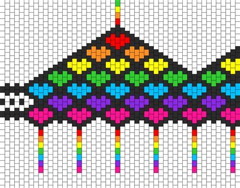 simple bead patterns rainbow bra bead pattern peyote bead patterns