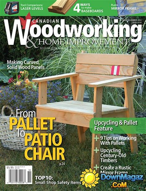 woodworking magazine canada canadian woodworking home improvement october november