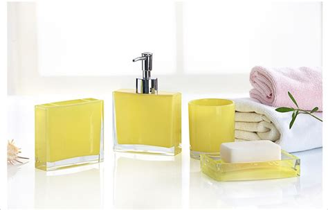 yellow accessories for bathroom yellow bathroom accessories sets
