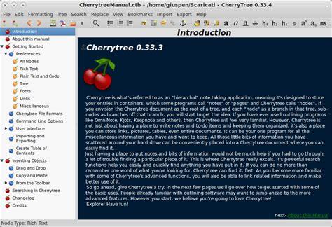 cherry tree notes cherrytree giuspen