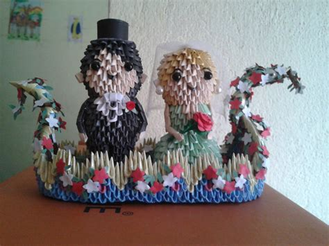 3d origami and groom 3d origami and groom 1 by sunitapatnaik on deviantart