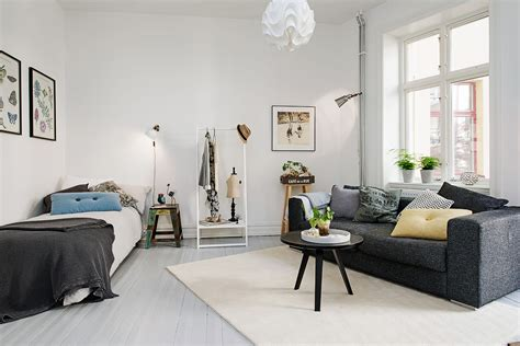 one room apartment design delightful one room studio apartment in gothenburg