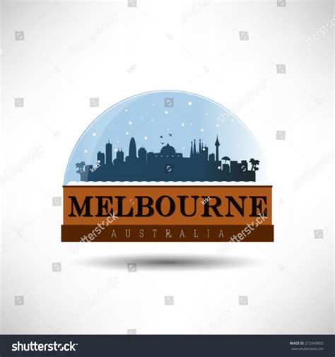 snow globe melbourne melbourne australia city skyline silhouette in snow