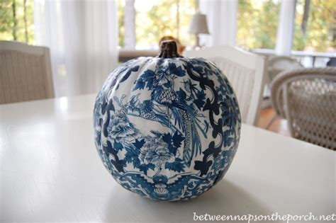 decoupage pumpkins decoupage a pumpkin to coordinate with a room s design or