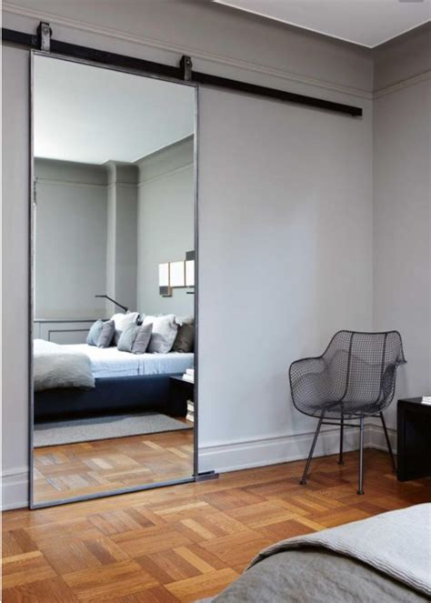 mirrored barn door bedroom mirror designs that reflect personality