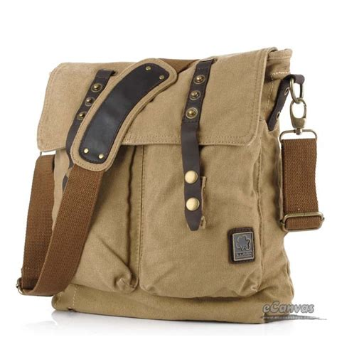 pictures of book bags canvas side bag khaki mens school book bag e canvasbags