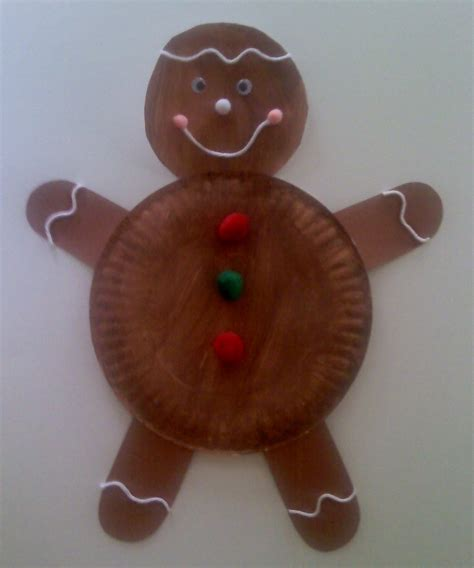gingerbread crafts for crafts for preschoolers paper plate gingerbread