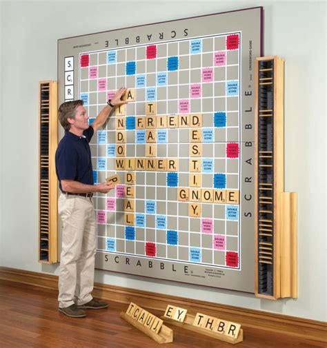 scrabble out world s largest scrabble is a handcrafted work of