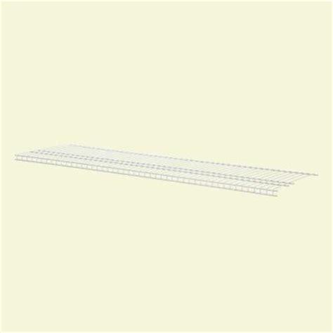 Closetmaid 3 Foot Wire Utility Shelf Closetmaid Superslide 6 Ft X 16 In Ventilated Wire Shelf