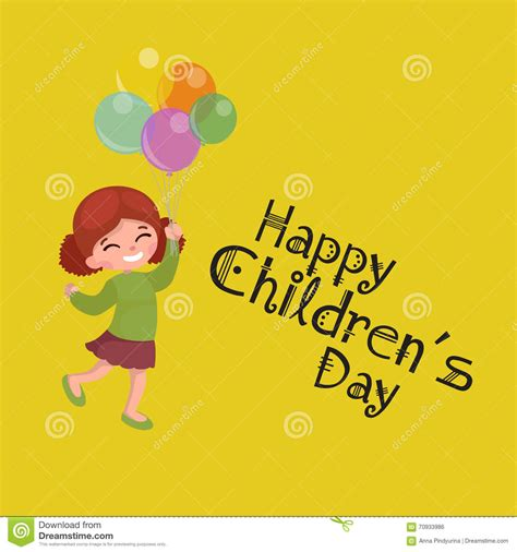 greeting card for children vector illustration greeting card happy