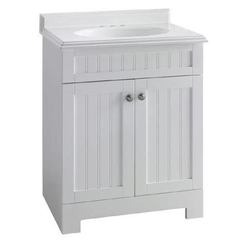 lowes bathroom vanities white beadboard style estate by rsi white boardwalk bath vanity