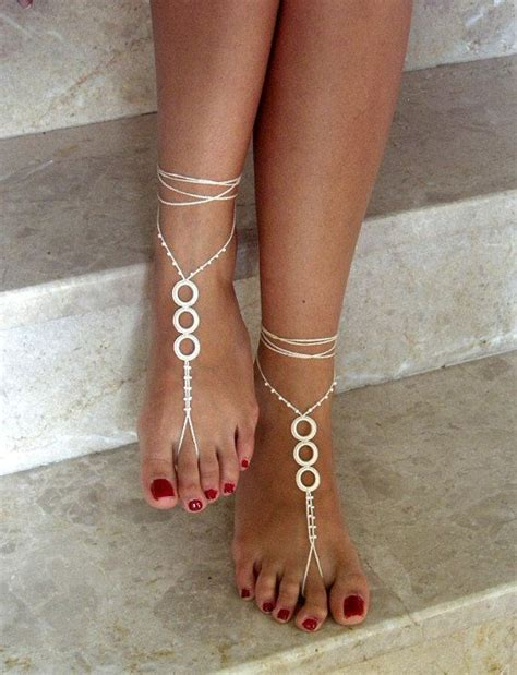 how to make beaded foot jewelry 17 best images about barefoot sandals on pink