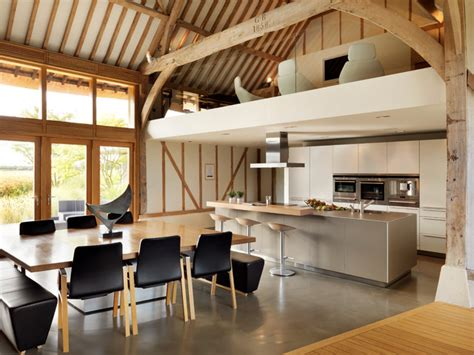 Dining Room Bar Ideas eco barn conversion contemporary kitchen cheshire