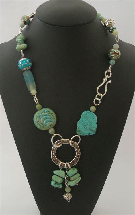 semi precious for jewelry turquoise necklace beaded handmade semi precious jewelry