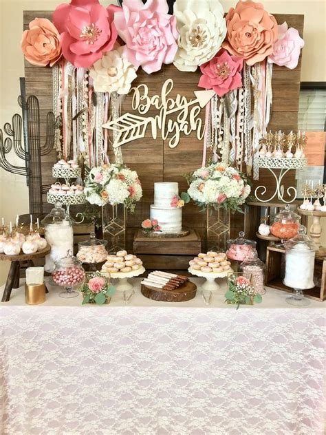 decoration ideas for baby shower boho chic baby shower party ideas in 2018 bohemian