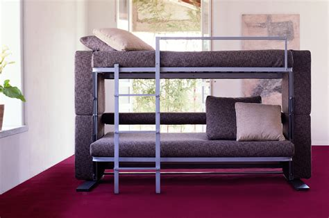 sofa bed that turns into bunk beds doc xl a sofa bed that converts in to a bunk bed in two
