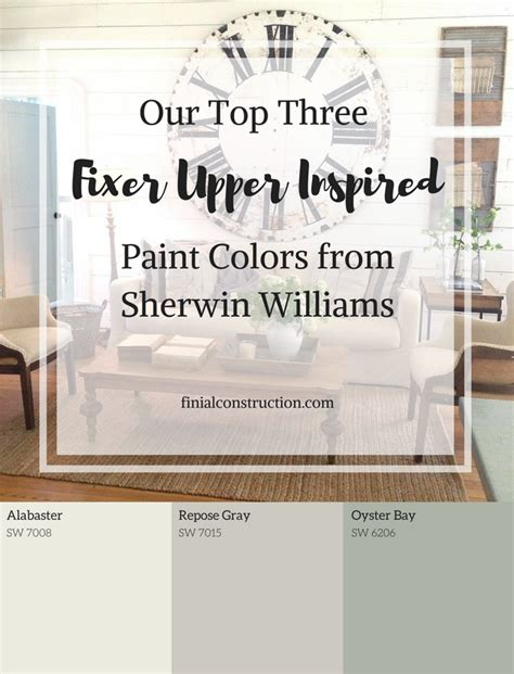paint colors used on fixer show 100 sherwin williams alabaster a living