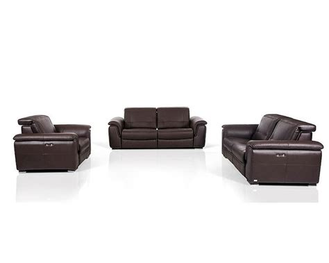 contemporary leather sofa sets contemporary brown leather sofa set w electric recliners