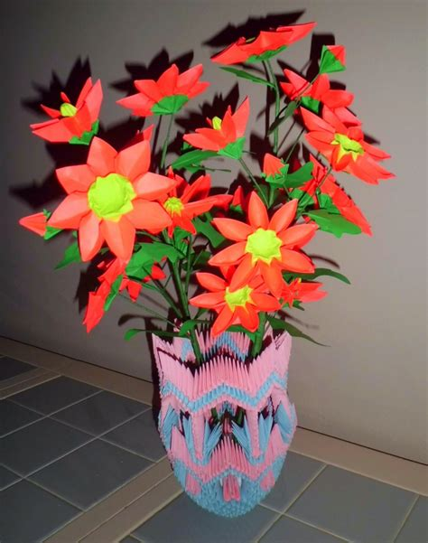 3d origami flower vase 3d origami vase and album david foos 3d origami