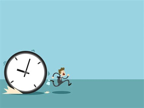 time management ppt backgrounds blue business templates