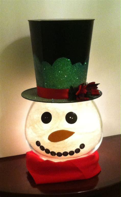 how to make a lighted how to make a lighted quot goldfish bowl quot snowman crafts
