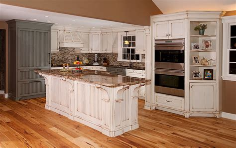 distressed island kitchen distressed kitchen with island custom cabinetry by ken leech