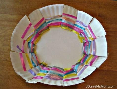 craft paper basket paper craft plate basket children s activities