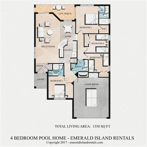 4 bed 2 bath floor plans 100 4 bedroom 2 bath floor plans 4 bed 2 bath